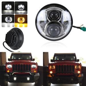 7-034-Round-120W-Led-Headlight-H-L-Beam-DRL-H4-H13-For-Jeep-Wrangler-JK-TJ-97-16-x1