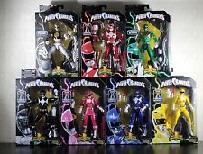 COMPLETE SET 7 POWER RANGERS Legacy Figure Megazord BAF WHITE RED GREEN YELLOW