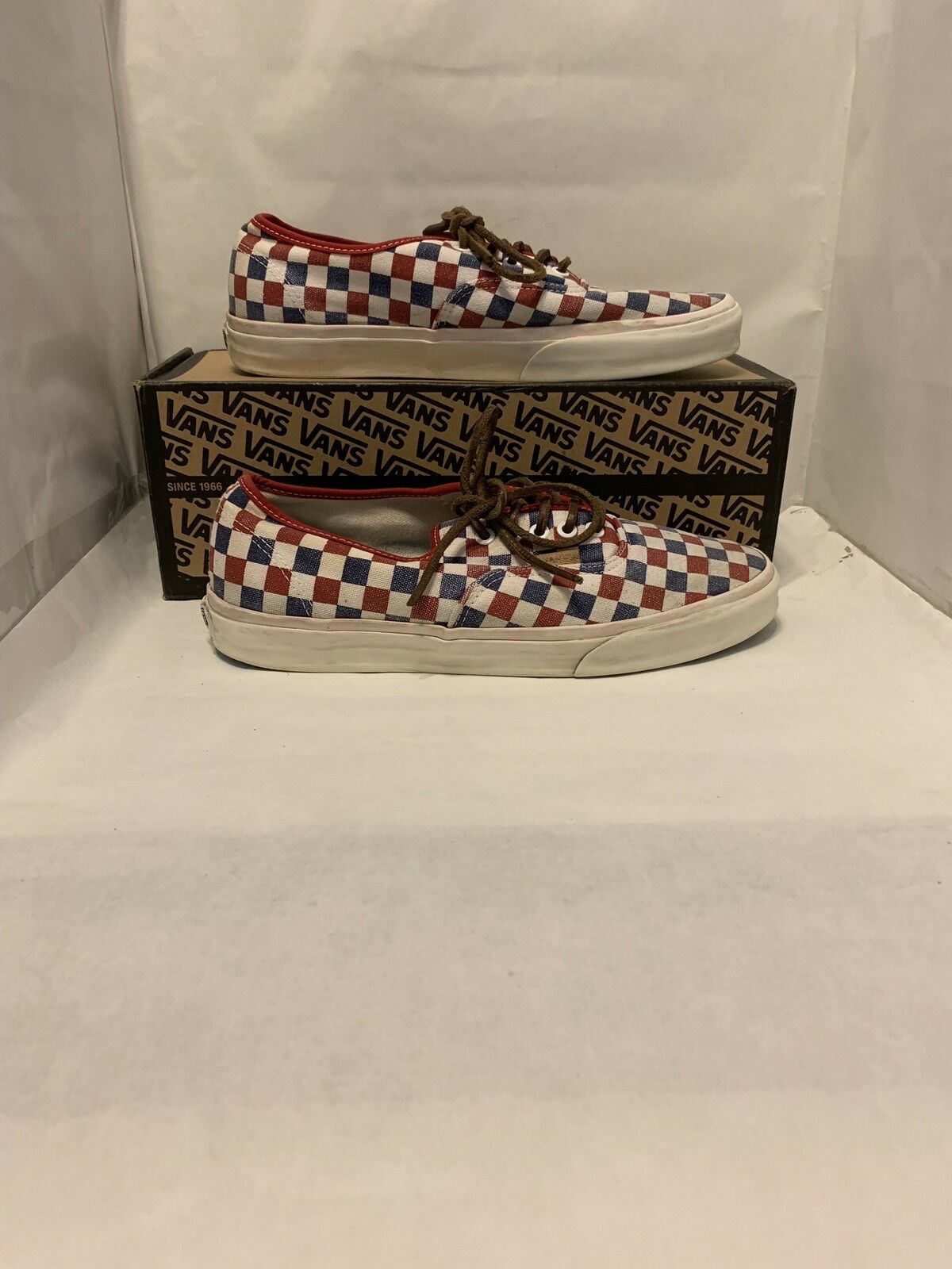 Vans CA (California) Authentic CA Checker True bluee Red Size 10 Used