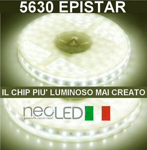 striscia led strip 5630 luce naturale 4500k 5m 300led chip