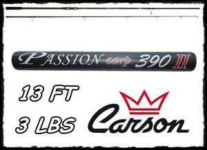 CANNA-CARSON-PASSION-CARP-390-3-LIBRE-IN-CARBONIO-CARPA-PESCA-CARP-FISHING