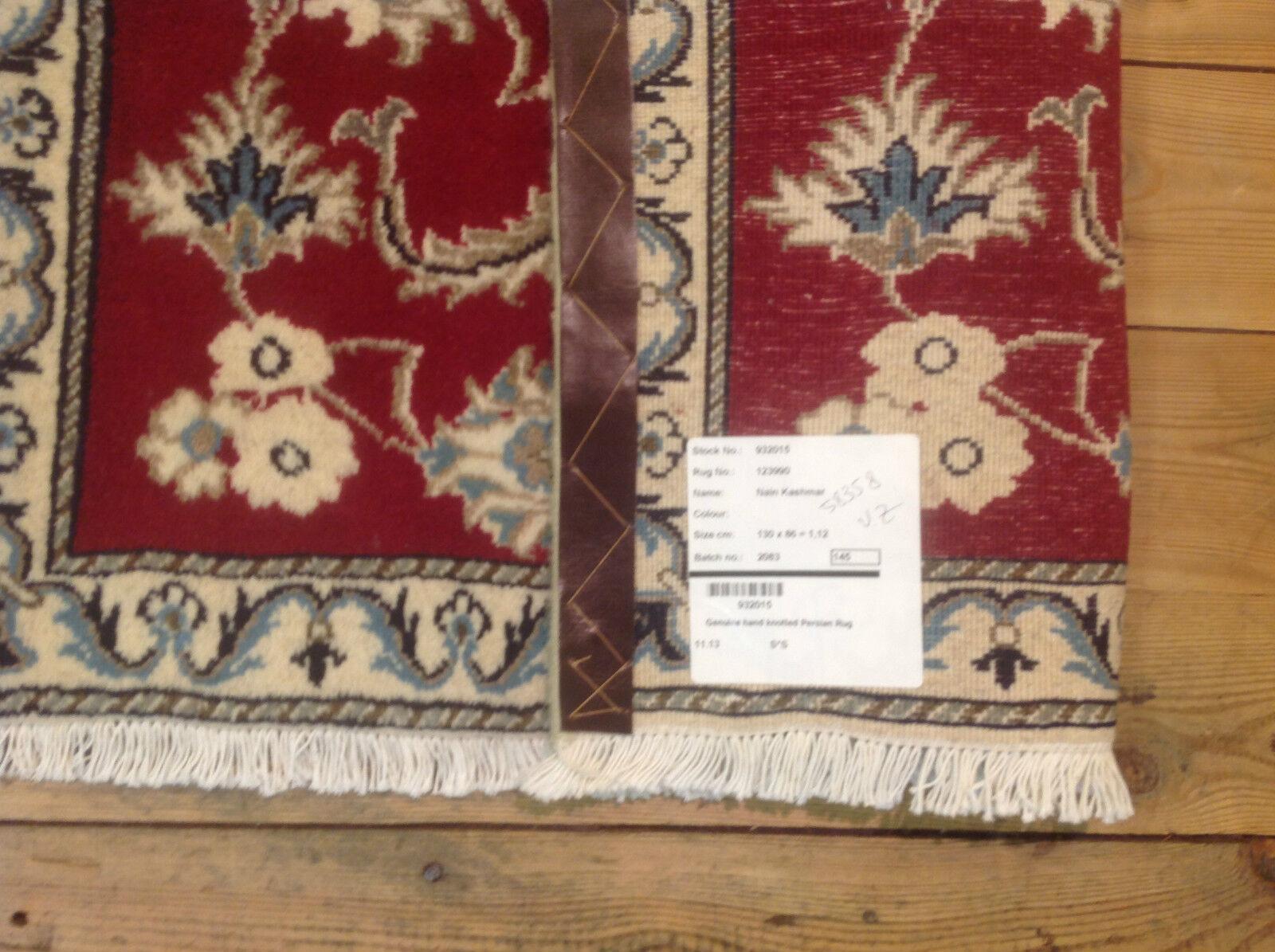 Magnifique Tapis Oriental NAIN (130x 80 80 80 cm) Persan excellent état   Conception Habile  e0be43