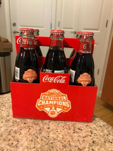 2018 Clemson Tigers National Champions Coke Bottle