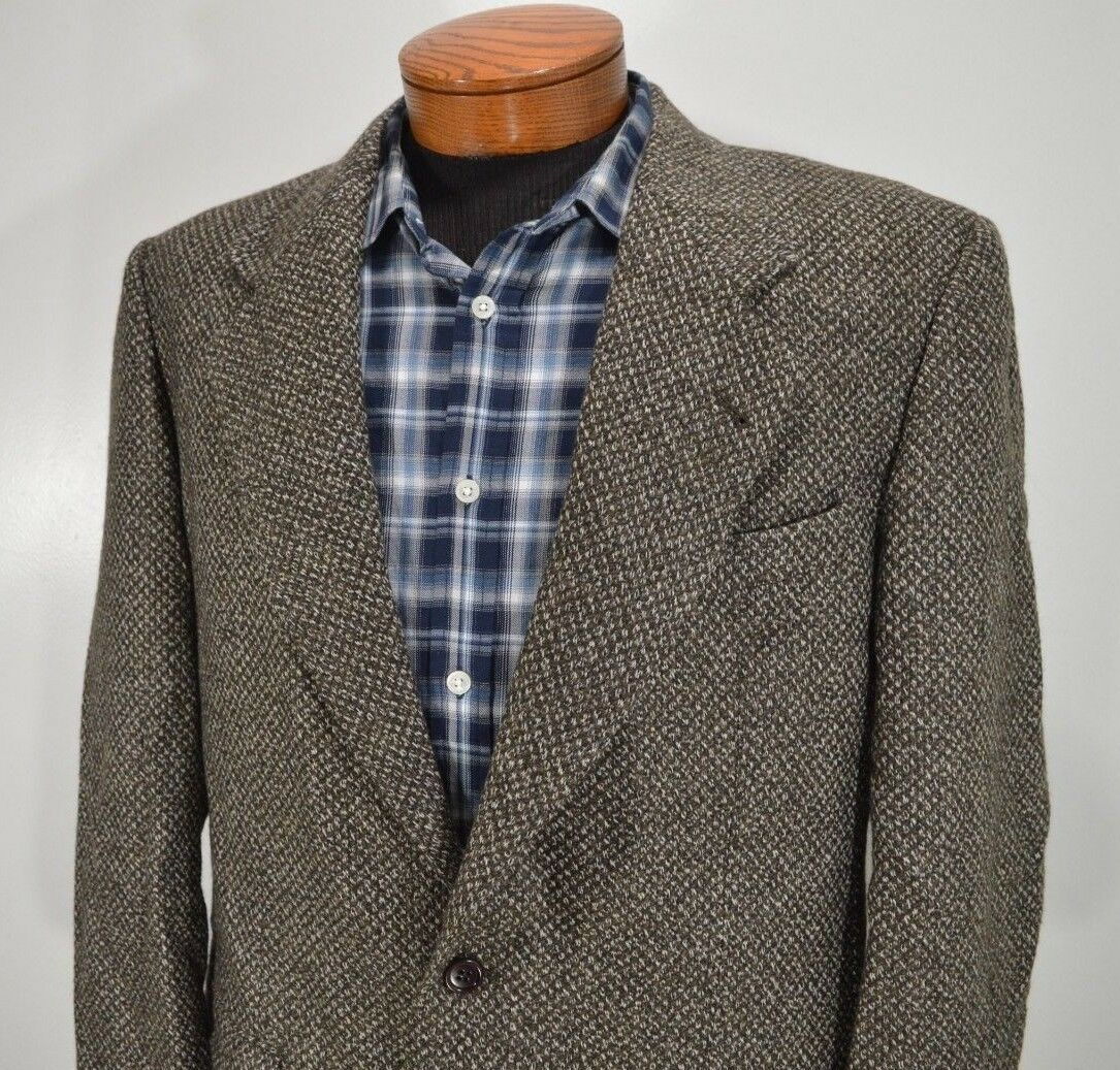 VALENTINO COUTURE Herren olive VIRGIN WOOL MULTI COLOROT sports coat 41R 41 R