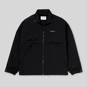 Carhartt-Casper-Jacket-I026319-Black-Schwarz-Trainer-Ubergangsjacke-Neu