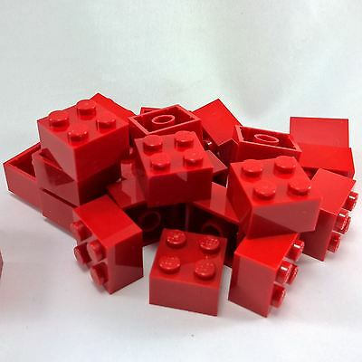 Lego Red Brick 2X2 25 Pieces NEW