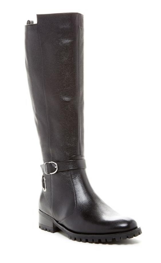 Tesori Valencia Womens Black Leather Boot Sz 8 3407