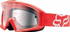 Fox Racing Main Goggles Red/Clear Dirt Bike Motocross Off Road MX 19827-003-OS