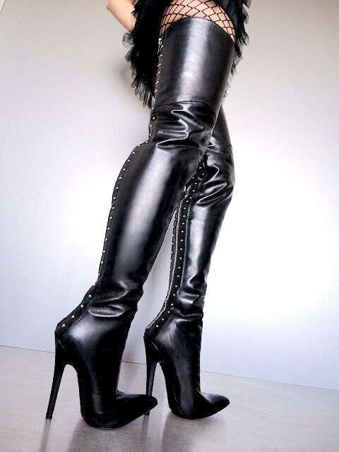 CQ COUTURE COUTURE COUTURE OVERKNEE EXTREME HEEL BOOTS STIEFEL STIEFEL LEATHER REISSVERSCHLUSS a3c9ea