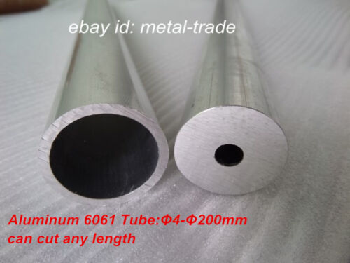 5pc Φ8 x Φ6mm Aluminum 6061 Round Tube OD8mm ID6mm Any Length Tubing Cut Lathe
