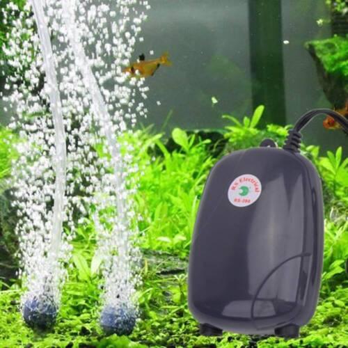 High Efficient Aquarium Oxygen Fish Air Pump Tank Super Silent 3W//5W Hotsale