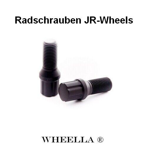 Schwarz M14 x 1.5 Radschrauben JR-Wheels 27mm 20 Stück lug nuts Japan Racing
