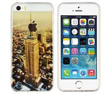 TPU Case für Apple iPhone SE / 5 S Schutzhülle Tasche Cover New York USA Skyline