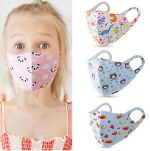 4PCS Kids Toddler Girls Face Mask Reusable Washable Protection Cover Breathable