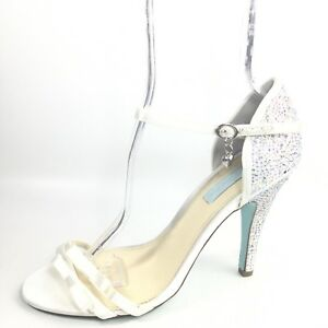 White Heel Studded Evening Shoes