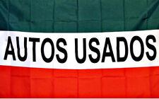 AUTOS USADOS Flag 3x5 Green White Red (FREE SHIPPING)