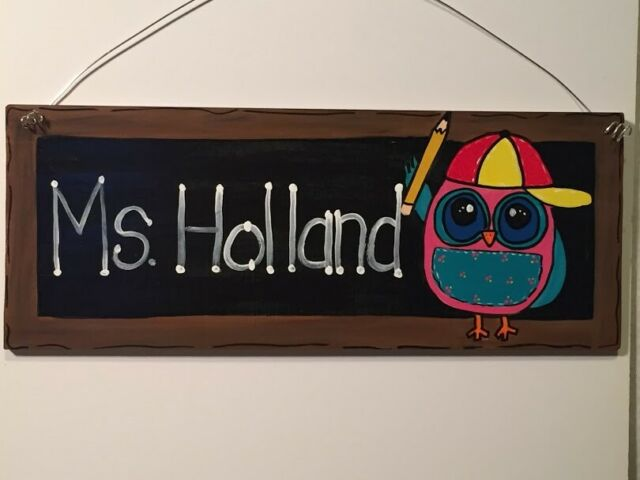 Personalized Owl Door Hanger