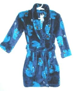 Cuddlduds 2t Plush Bathrobe Navy Teal Polar Bear Print