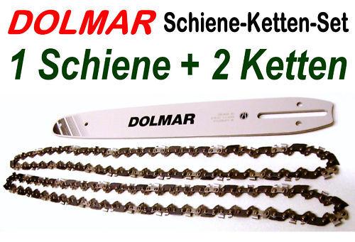"para lo PS motosierra 1,3mm nutbr 52 trgl Dolmar espada 35cm +2 cadenas 3//8/"" ho"
