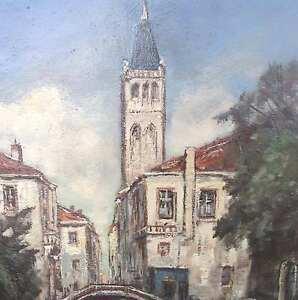 Kranenburg-Hendrik-Cornelis-VENEDIG-Dorsoduro-Italia-Rio-San-Barnaba-Venice