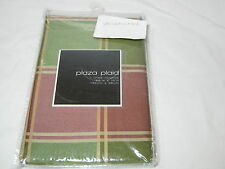 Softline Home Plaza Plaid Lines Window Valance Pale Red/Green Gold 52x15 NIP
