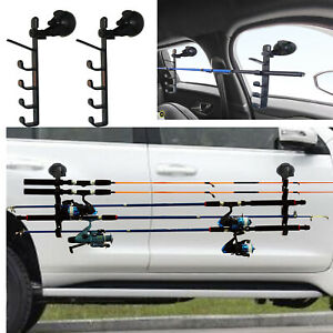 Strong Suction Cup Fishing Rod Racks Fishing Rod Holders For Car Truck Suv 2 Pk Ebay