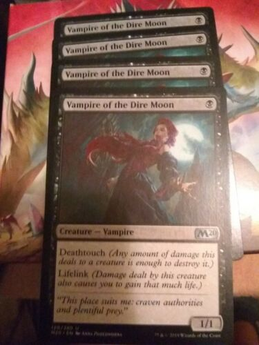 """Playset NM Magic The Gathering /""""Vampire of the Dire Moon/"""" x4"""