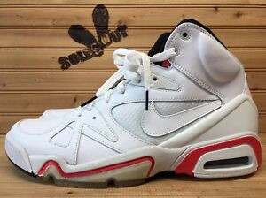 2009-Nike-Air-Hoop-Structure-LE-sz-9-White-Hot-Red-365726-111-SC