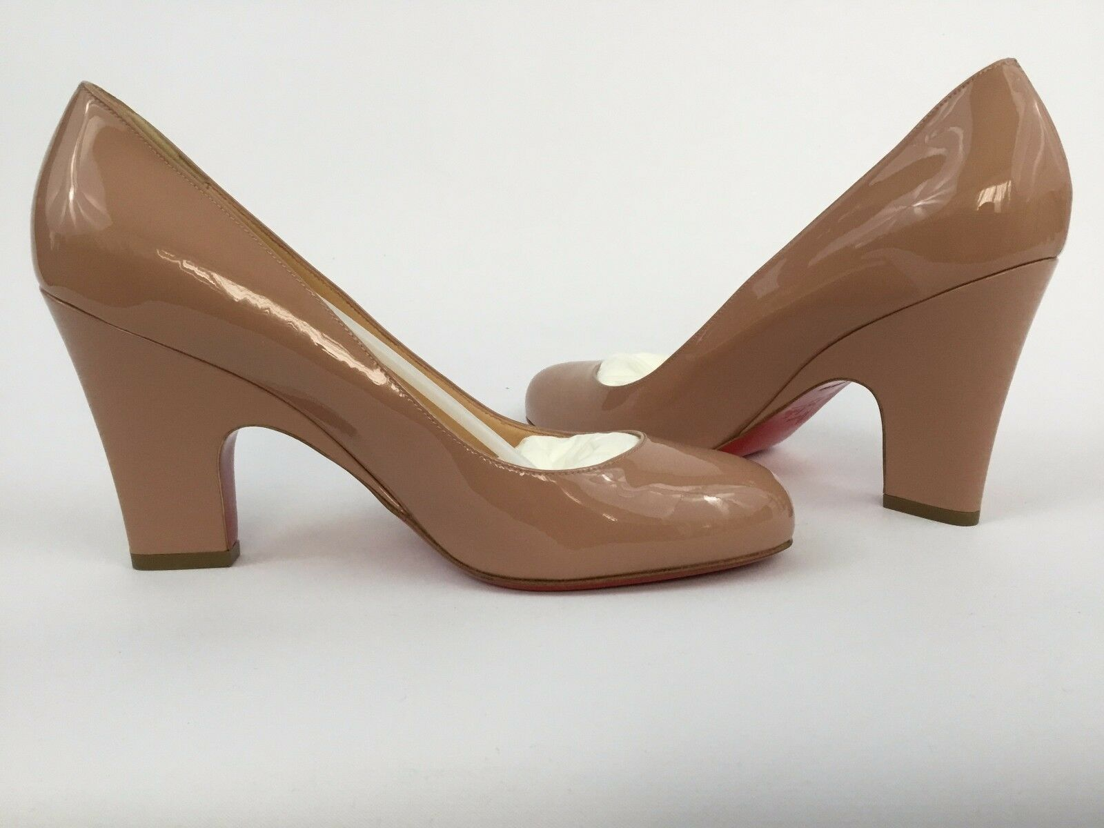 Christian Louboutin AKDOOCH Patent Leather Nude Pumps Pumps Pumps Heels 40.5 514b93