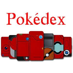 Pokemon Pokedex Leather Wallet for iPhone 7 6 6s 5 5s 4 4s ...
