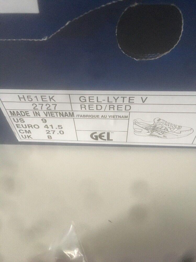 ASICS Gel-Lyte V (h51ek-2727) Uomo Scarpe Sportive  Rosso Rosso Rosso Taglia: selezionabile NUOVO 53526b