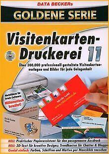 Visitenkartendruckerei 11 Von Data Becker Software Zustand Gut