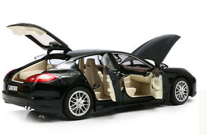 1-18-Porsche-Panamera-Metal-Diecast-Model-Car-Toy-Collection-Black-New-in-Box