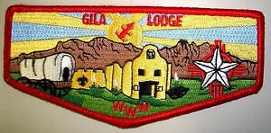 GILA-OA-LODGE-378-YUCCA-COUNCIL-78-SCOUT-PATCH-FORT-BLISS-RED-SERVICE-FLAP-MINT