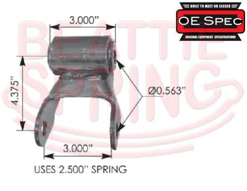 Rear Leaf Spring Shackle for Chevy//GMC Savana /& Express