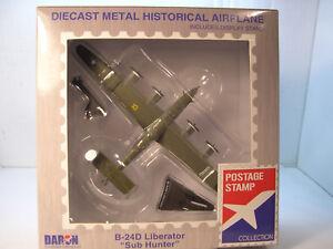 WWII-USAAF-B24D-LIBERATOR-SUB-HUNTER-DARON-1-163-SCALE-DIECAST-DISPLAY-MODEL