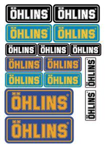 Fe-sticker-Ohlins-moto-patrocinador-decal-pegatinas-set-adesivi-decal-bike-25-PCs-917