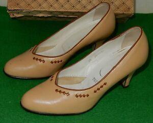 Chaussures Femmes Chaussures Talon Chaussures Escarpins En Cuir Véritable Original Rda 1950/60 50 S-afficher Le Titre D'origine