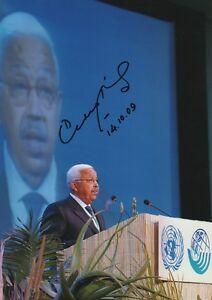 """Sammeln & Seltenes Pedro Pires """"präsident Kap Verde"""" Autogramm Signed 20x30 Cm Bild Schmerzen Haben"""