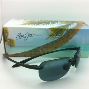 2f07c17db98 New MAUI JIM Sunglasses SANDY BEACH MJ 408-02 56-14 Black Frames w ...