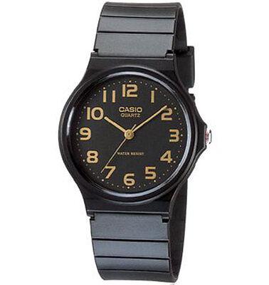 Casio MQ24-1B2, Classic Analog Watch, Black Resin Band, Water Resistant