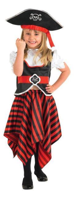 Rubies Girls Reb Black Pirate 883620