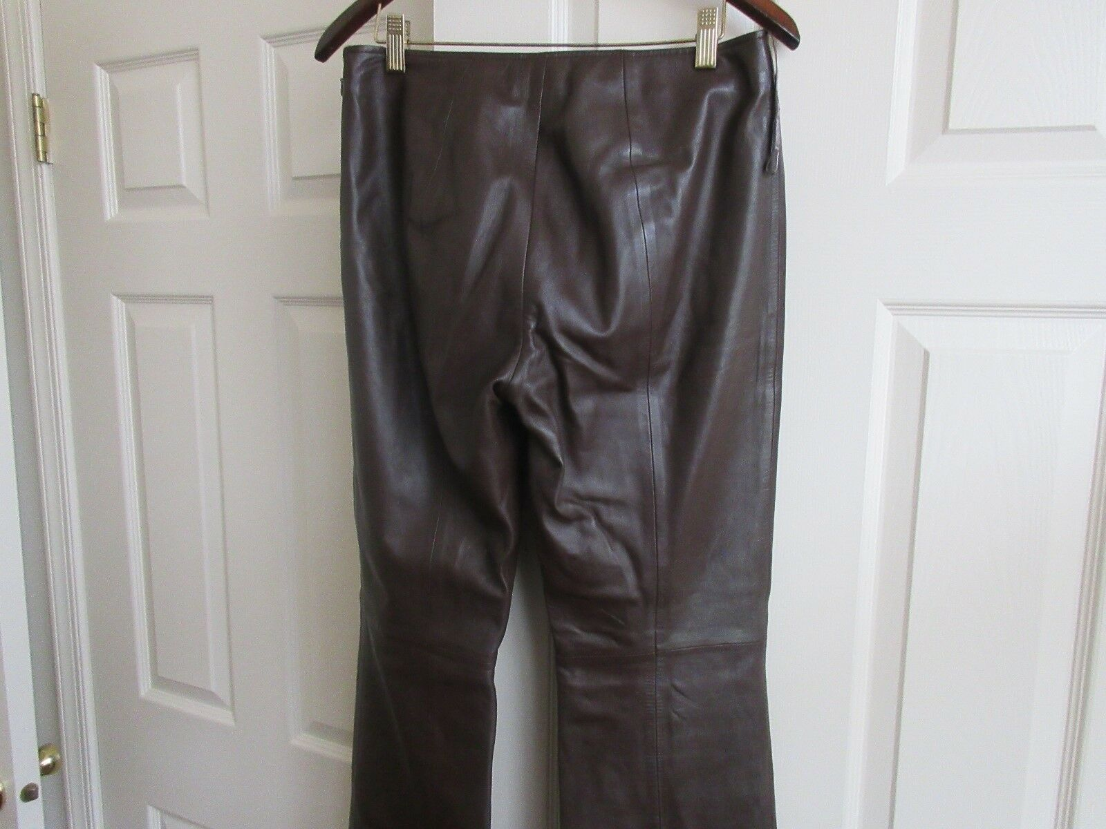 Cache , Ladies Pants , 100% Lamb Leather , Size 6 , Vintage , Brown color