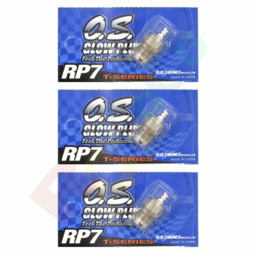 Engines Parts 3PCS OS GLOW PLUG RP7 TURBO COLD ON-ROAD # OS71642070 O.S