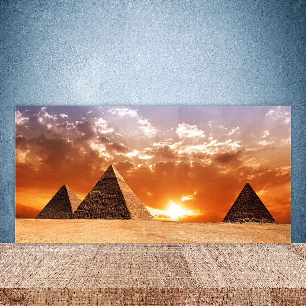Crédence de cuisine en verre Panneau Paroi 100x50 Paysage Pyramides