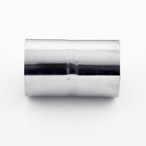 """3/"""" ID to 3/"""" ID 5/"""" Long Polished Stainless Steel Exhaust Pipe Tip Connector"""