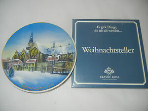 Rosenthal-Christmas-Plate-1986-Amsterdam-Oude-Kerk-Boxed-Int-No-86-7
