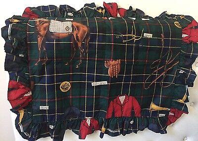 New Vintage ~ Ralph Lauren Hunt Tack Equestrian Standard Ruffled Sham ~