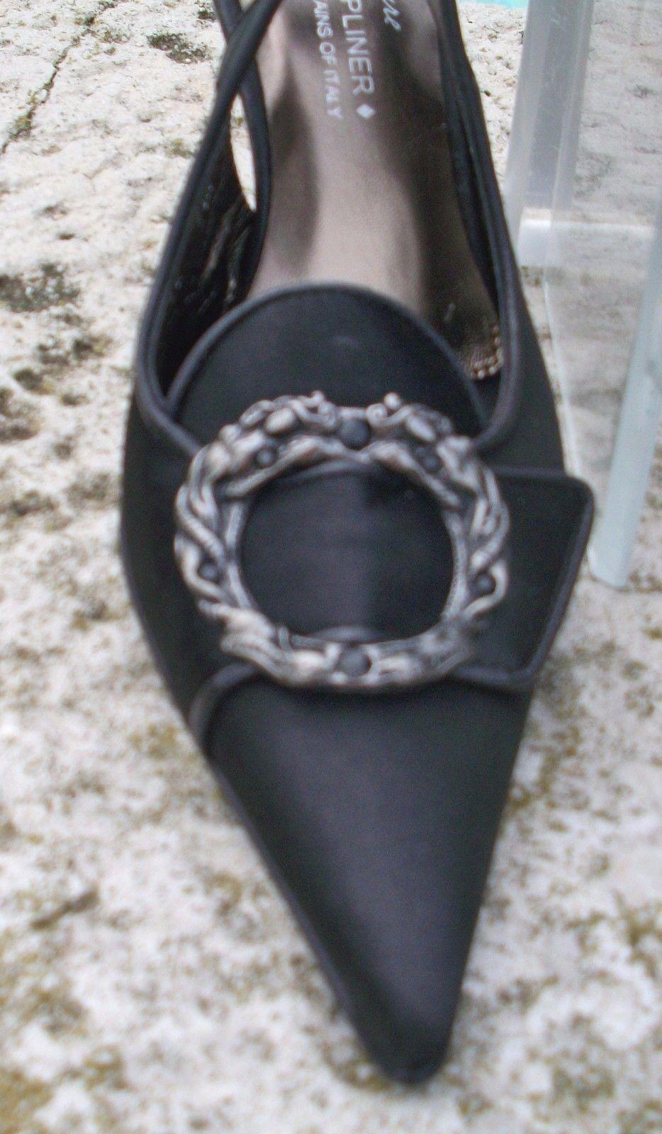 Donald Pliner Couture Raso Zapato Nuevo De Cuero Charol Nuevo Zapato 6.5 Diamantes de Imitación  310 ae4a72
