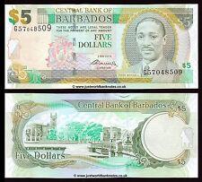 Barbados 5 Dollars 2012  P-67c  UNC